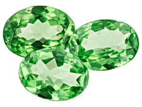 Tsavorite Garnet Oval Set of 3 7.5x5.5mm 2.68ctw
