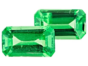 Tsavorite Garnet Matched Pair 5x3mm Rectangular Octagonal 0.50ctw