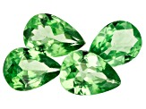 Tsavorite Garnet Pear Set of 4 2.50ctw