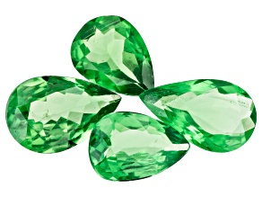 Tsavorite Garnet Pear Set of 4 2.52ctw