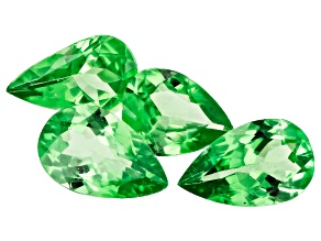 Tsavorite Garnet Pear Set of 4 2.83ctw