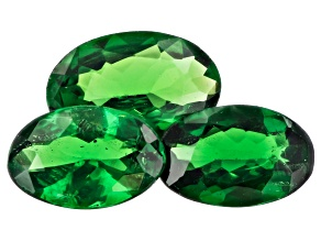 Tsavorite Garnet Oval Set of 3 1.09ctw