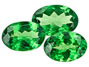 Tsavorite Garnet Oval Set of 3 1.68ctw