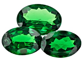 Tsavorite Garnet Oval Set of 3 1.49ctw