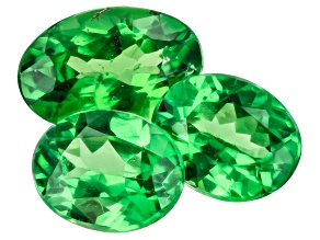 Tsavorite Garnet Oval Set of 3 1.20ctw