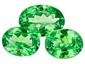 Tsavorite Garnet Oval Set of 3 1.21ctw