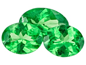 Tsavorite Garnet Oval Set of 3 1.16ctw