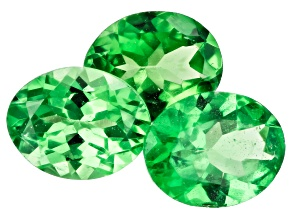 Tsavorite Garnet Oval Set of 3 1.00ctw