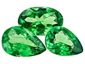 Tsavorite Garnet Set of 3 0.97ctw
