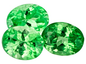 Tsavorite Garnet 5x4mm Oval Set of 3 1.00ctw