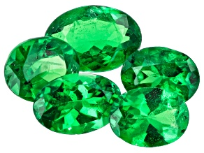 Tsavorite Garnet Oval Set of 5 2.09ctw