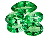 Tsavorite Garnet Set of 5 2.36ctw