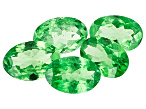 Tsavorite Garnet Oval Set of 5 2.40ctw
