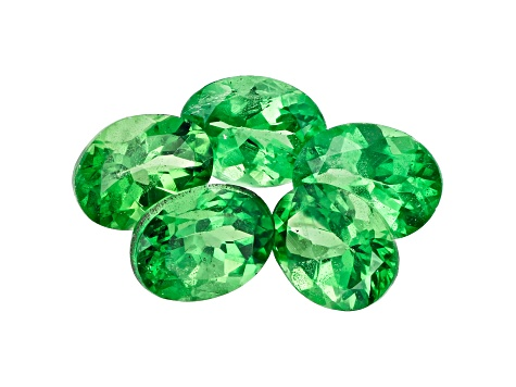 Tsavorite Garnet 5x4mm Oval Set of 5 2.00ctw