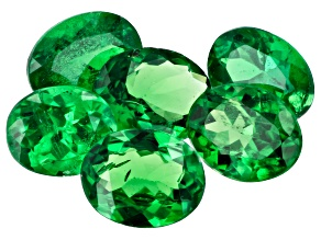 Tsavorite Garnet Oval Set of 6 2.12ctw
