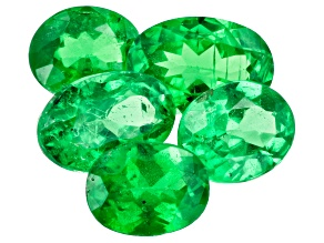 Tsavorite Garnet Oval Set of 5 2.17ctw