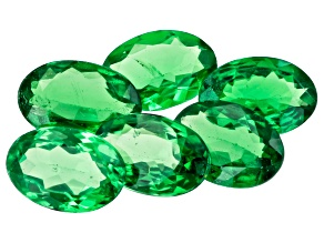 Tsavorite Garnet Oval 6x4mm Set of 6 2.36ctw