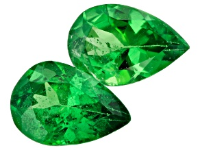 Tsavorite Garnet 6x4mm Pear Shape Matched Pair 0.63ctw
