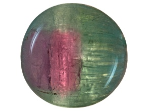 Bi-Color Tourmaline Cats Eye Mixed Shape Cabochon 6.00ct