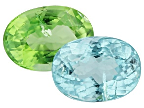 Paraiba Tourmaline Color Set 1.79ct Set Of 2: 7x5mm Oval