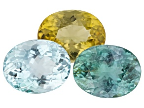 Paraiba Tourmaline Color Set 5.90ct Set Of 3: 9x7mm Oval