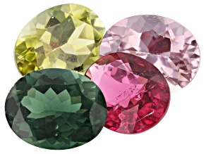 9.82ct Tourmaline 10x8mm Fancy Color Set Of 4 Oval