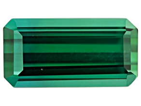 Green Tourmaline 12x6mm Emerald Cut 3.30ct