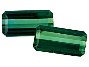 5.80ct Tourmaline 12x6mm Matched Pair Rect Oct
