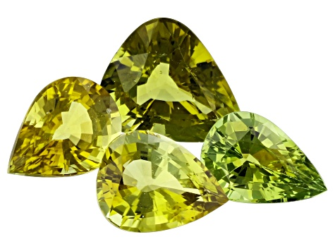 10.65ct Tourmaline Varies mm Set Of 4 Pear
