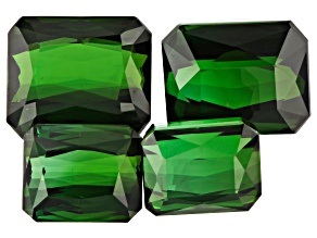 28.77ct Tourmaline Varies mm Set Of 4 Rect Oct
