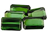 26.63ct Tourmaline Varies mm Set Of 5 Rect Oct