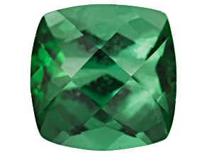 Green Tourmaline 5mm Square Cushion Checkerboard Cut 0.55ct