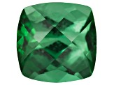 Green Tourmaline 5mm Square Cushion Checkerboard Cut .55ct