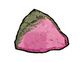 Watermelon Tourmaline Free Form Slice 45.00ct