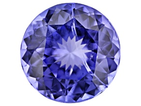 Tanzanite 3.09ct 9mm Round Internal Inclusion
