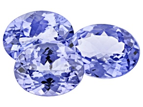 Tanzanite Oval Set Of 3 4.07ct