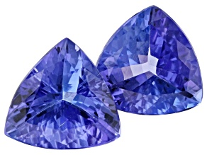Tanzanite 3.45ct 8.3mm Trillion Matched Pair