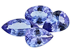 Tanzanite 3.45ct Set Of 4: Varies mm Mixed Shapes
