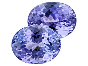 Tanzanite 4.43ct 9x7mm Oval Matched Pair