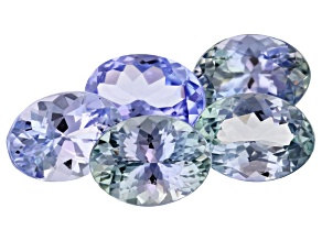 Zoisite Mix 5.31ct Set Of 5: Varies mm Oval