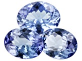 Tanzanite Set of 3 Mixed Sizes Oval 4.49ctw
