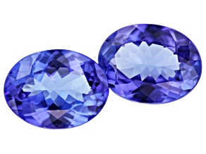 Tanzanite 9x7mm Oval Matched Pair 2.92ctw
