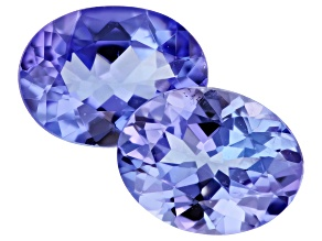Tanzanite 9x7mm Oval Pair 2.87ctw