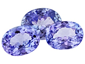 Tanzanite Oval Set of 3 2.84ctw