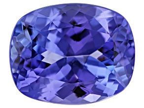 Tanzanite 10.9x8.8mm Rectangular Cushion 3.65ct