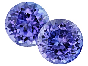 Tanzanite 7.5mm Round Matched Pair 3.55ctw