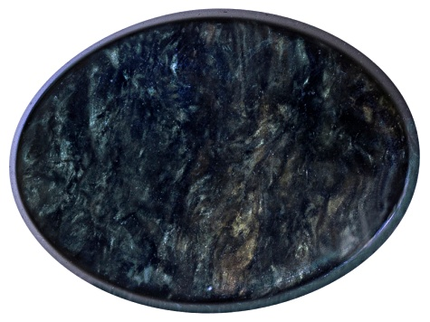 Obsidian 16x12mm Oval Cabochon 6.75ct