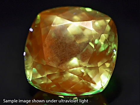 Grossular Garnet Fluorescent 9.74x9.68mm Square Cushion 5.20ct