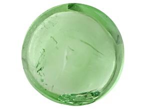 Garnet Mint Tsavorite Fluorescent 6mm Round Cabochon 1.00ct