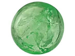 Garnet Mint Tsavorite Fluorescent 7mm Round Cabochon 1.50ct